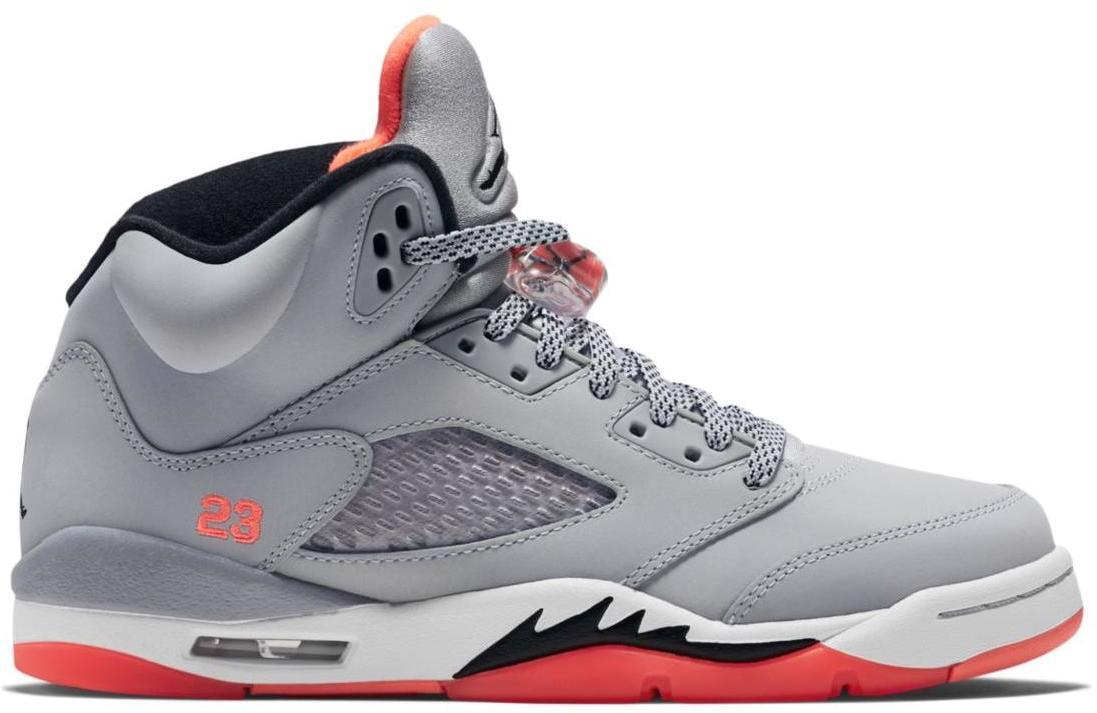 air jordan 5 grey and orange