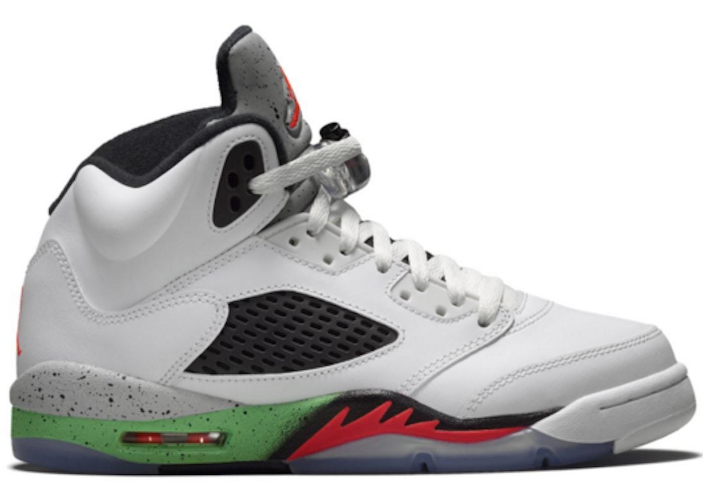82e593295c7dc5 Jordan 5 Retro Poison Green (GS) - 440888-115