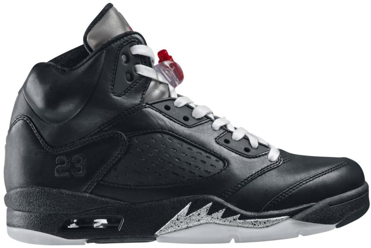 Mens Air Jordan 5 V) Retro Premio Shoe Black Blue shoes