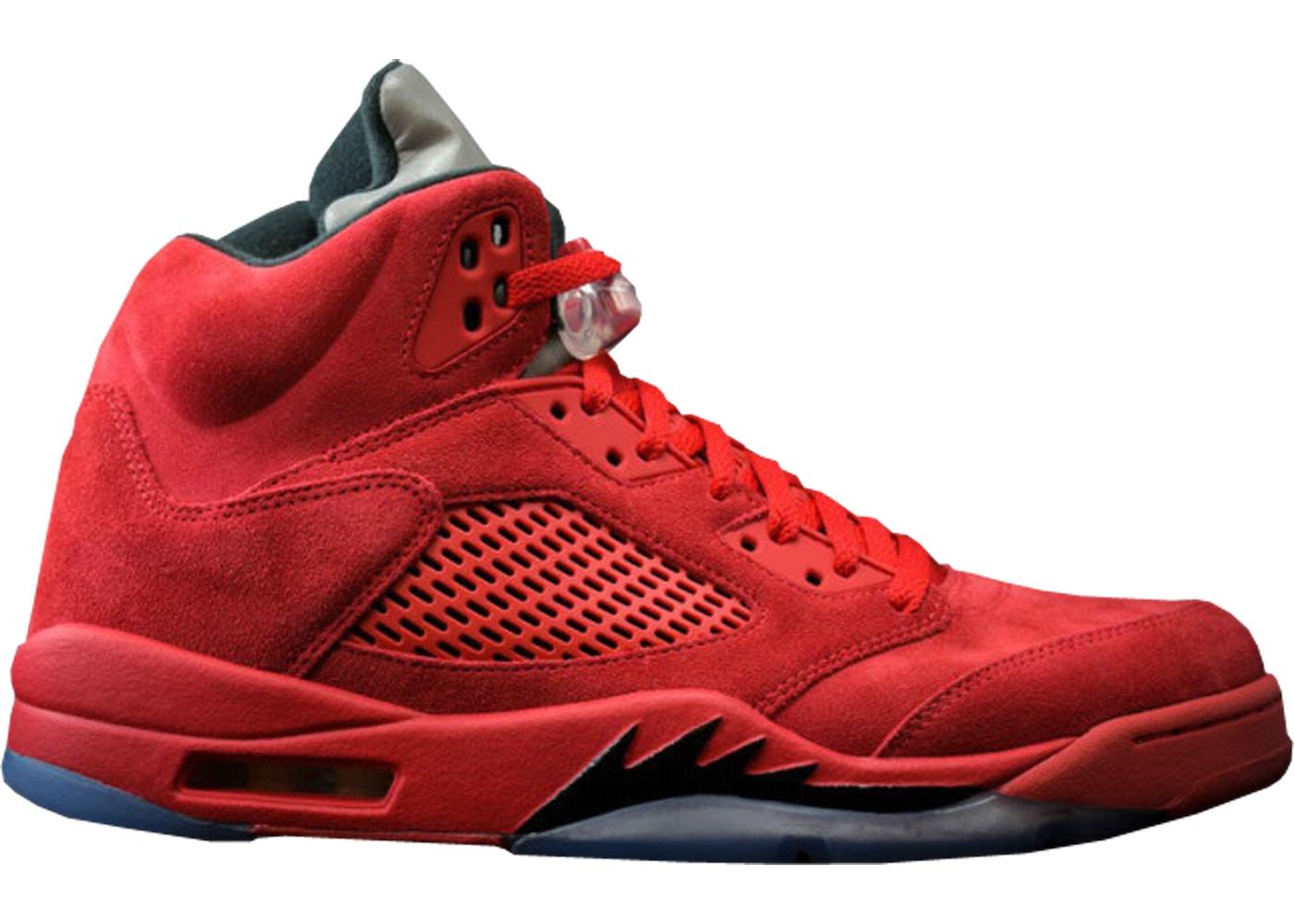 new arrival b3f5a 1e994 Nike Air Jordan 5 Retro Red Suede (University Red Black) Jordan 5 Retro Red  Suede - 136027-602 ...