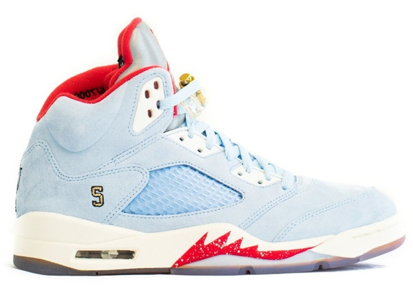 classic fit 503e5 8add7 Jordan 5 Retro Trophy Room Ice Blue