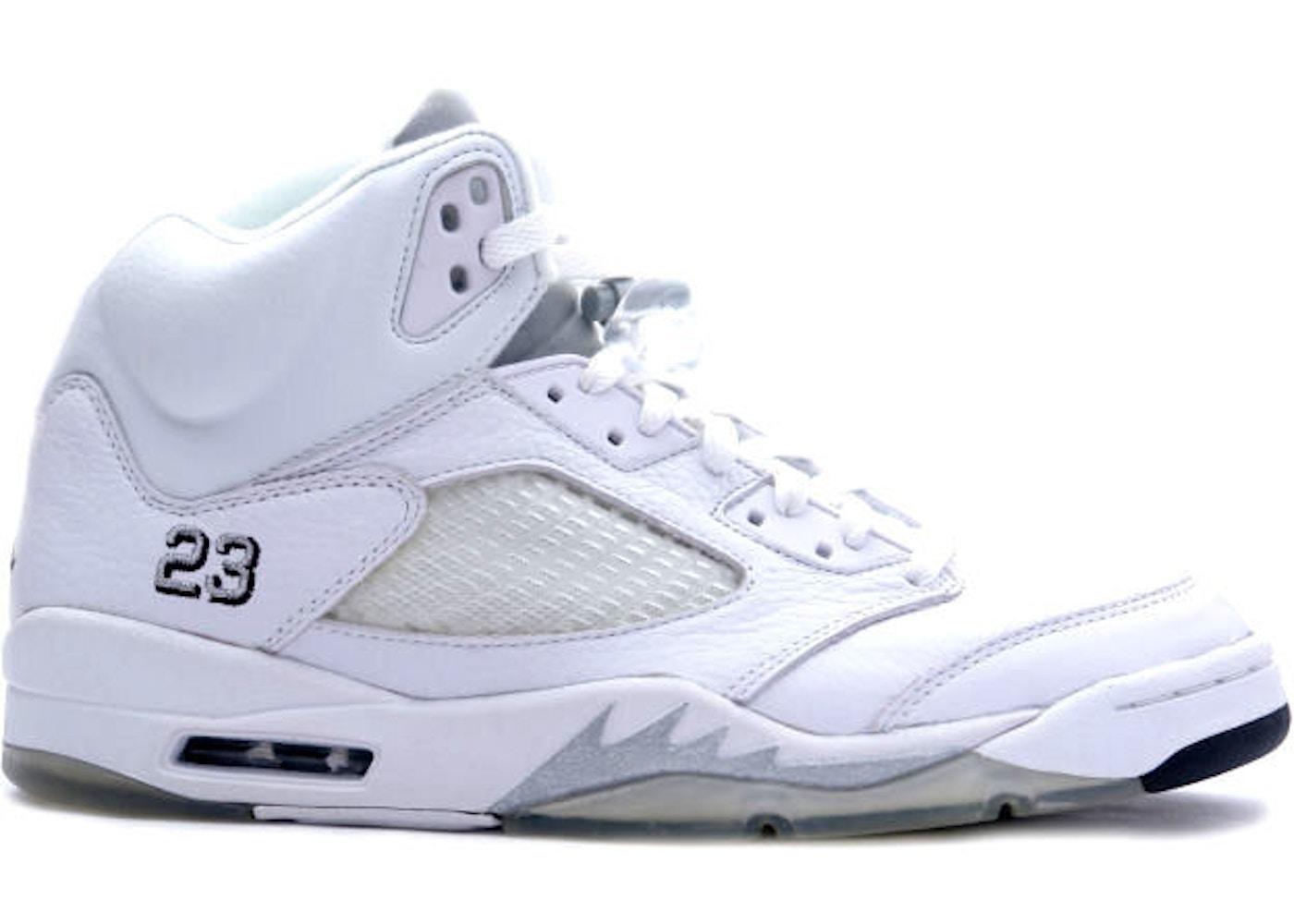 half off d9e9f 9d7e6 Jordan 5 Retro Metallic White (2000)