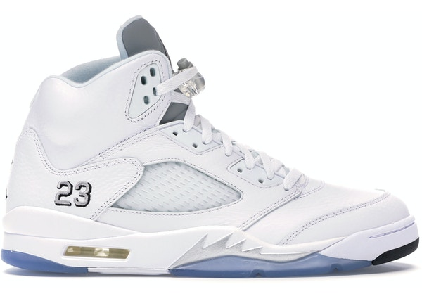8a8788f93d6 Jordan 5 Retro Metallic White (2015) - 136027-130