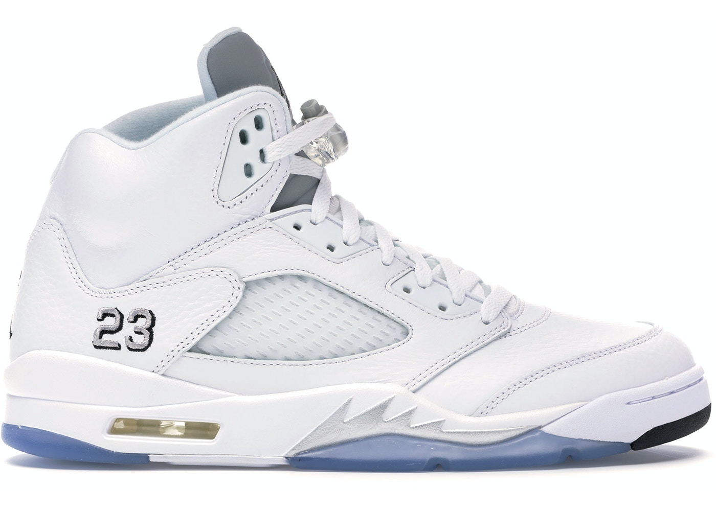 big sale aa2ac 505c1 Jordan 5 Retro Metallic White (2015) - 136027-130