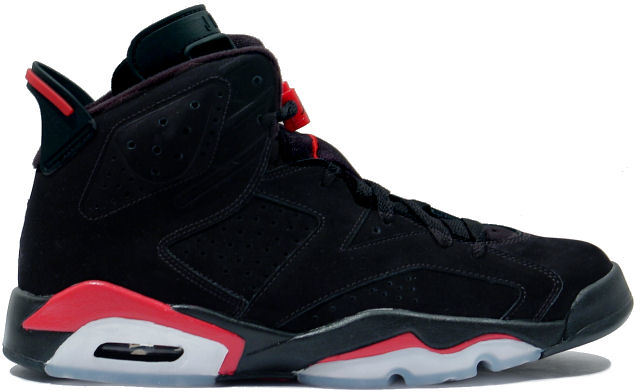 air jordan black red 6