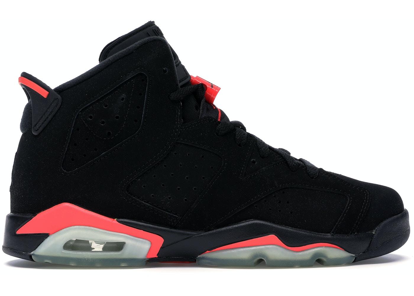 run shoes new photos good service Jordan 6 Retro Infrared Black 2014 (GS)