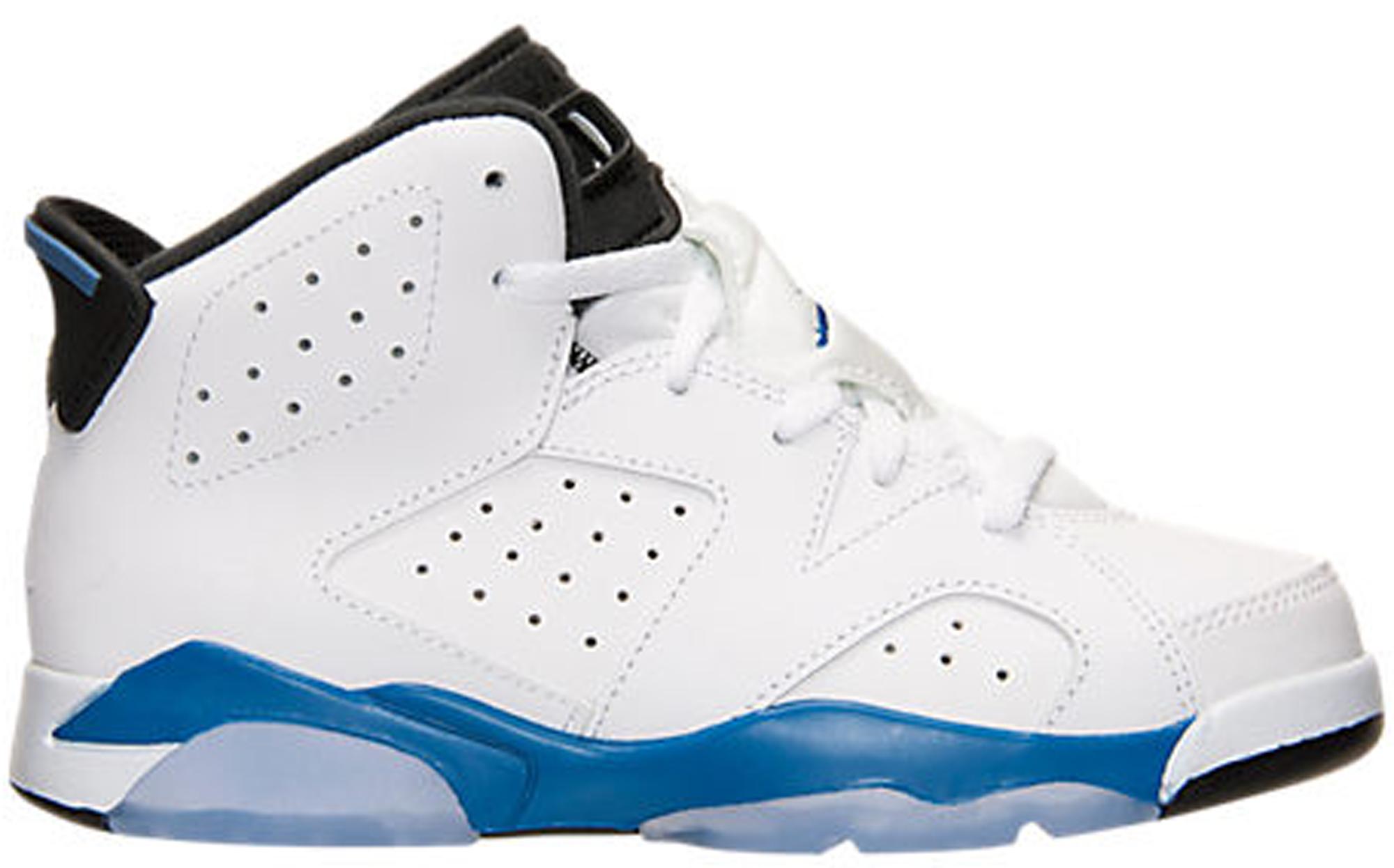 Jordan 6 Retro Sport Blue (PS) - 384666-107