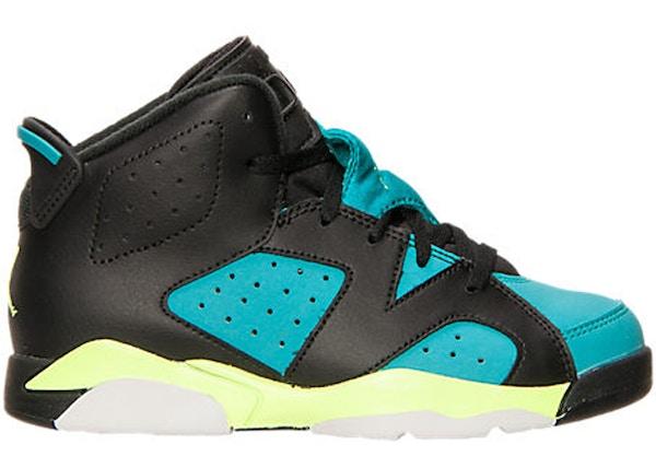 sneakers for cheap 486c3 bd570 Jordan 6 Retro Turbo Green (PS) - 543389-043