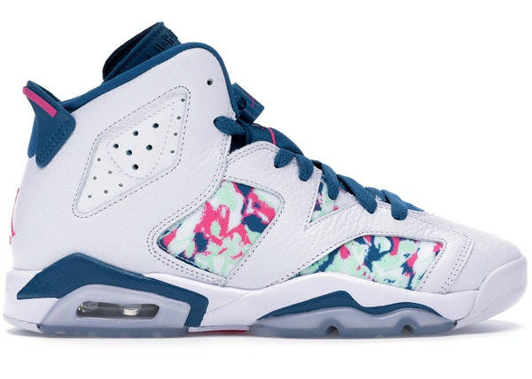 wholesale dealer 94dbf 8a429 Jordan 6 Retro White Laser Fuchsia Green Abyss (GS)