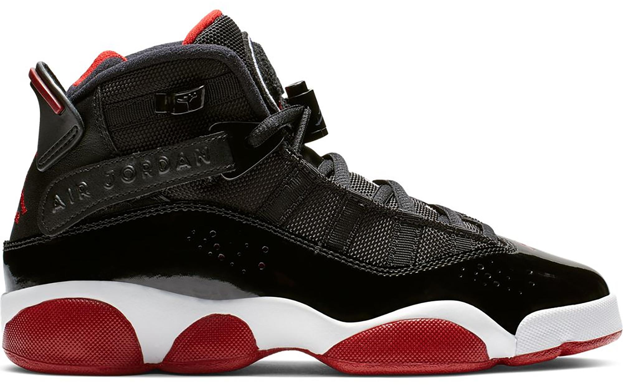 air jordan 6 black and red