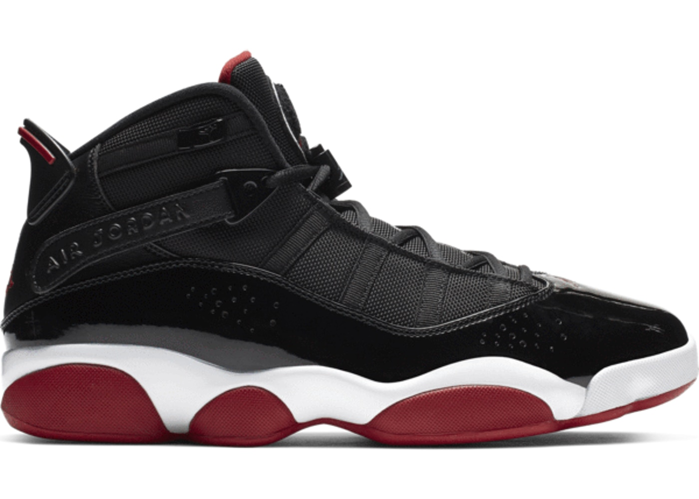 purchase cheap b93d8 223ee Jordan 6 Rings Black Varsity Red