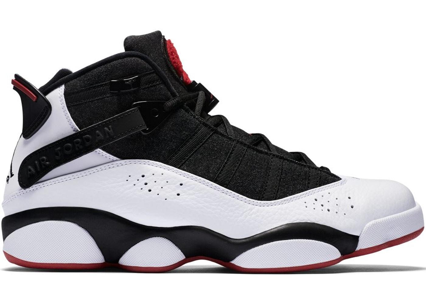 lowest price 1fc81 f1161 Jordan 6 Rings Black White Gym Red