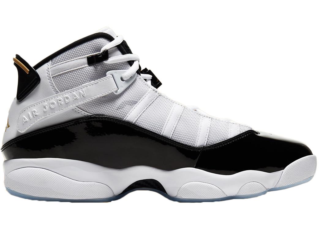 black white 6 rings