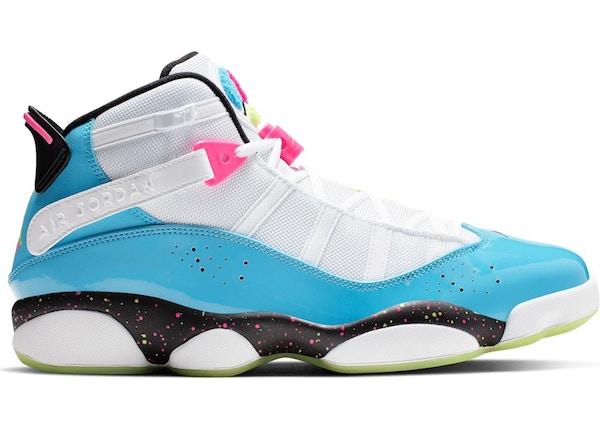 sports shoes 9c7d4 7bdc6 Jordan 6 Rings White Light Blue Fury Cyber