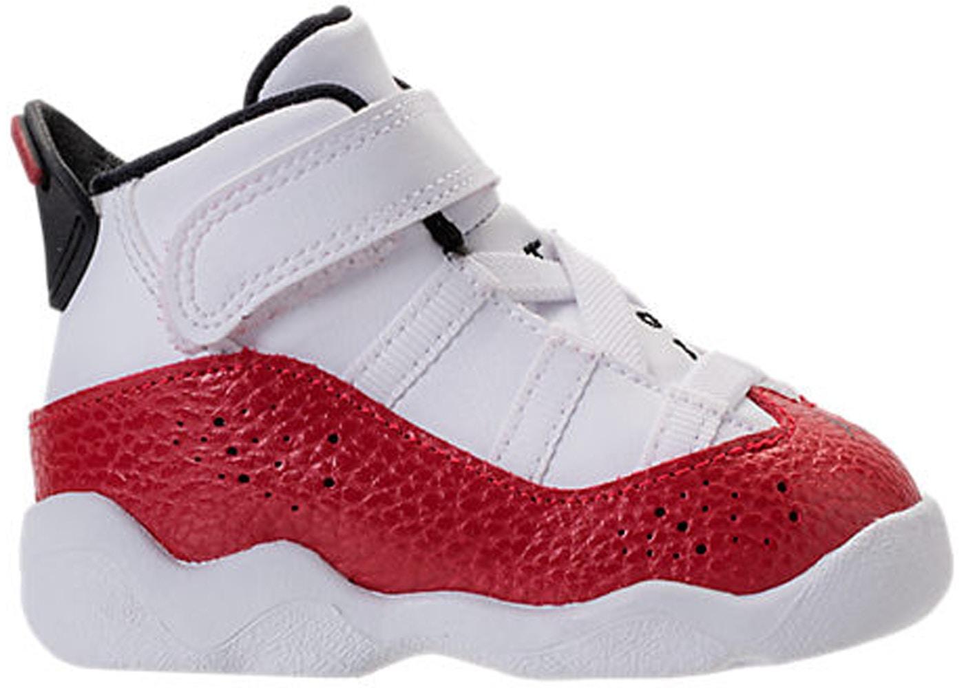sale retailer 28c8f 5de4c Jordan 6 Rings White University Red (TD)