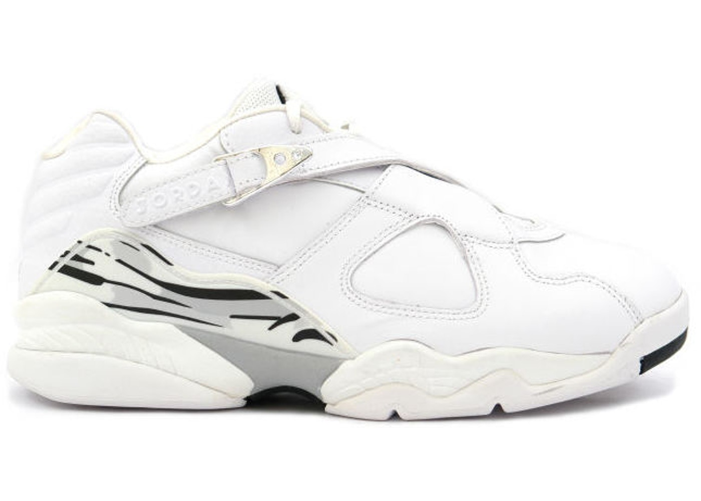 brand new eadb7 e61a5 Jordan 8 Retro Low White Metallic Silver