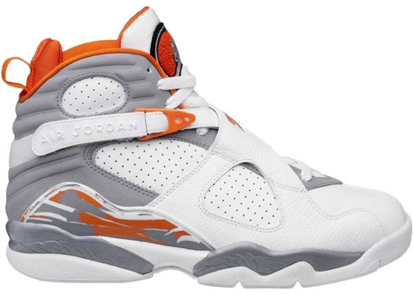 edadd9a7d35a62 Jordan 8 Retro Orange White (GS)