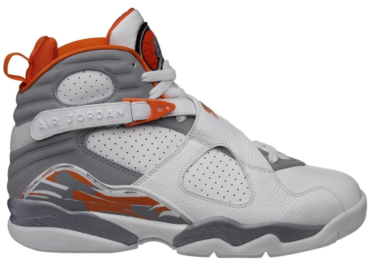 big sale a366a d5bce Jordan 8 Retro Orange White - 305381-102