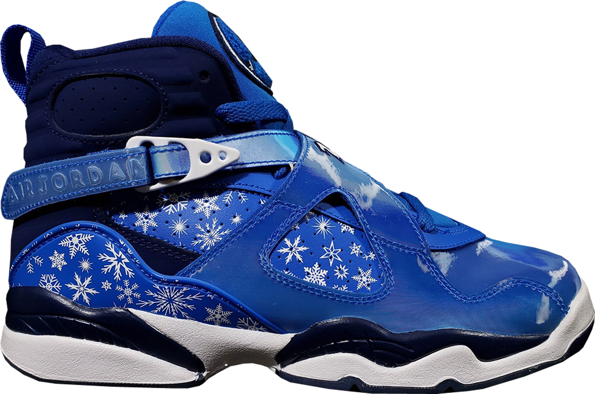 "Details about Nike Air Jordan 8 Retro GS Shoes ""Snowflake"" Size 6Y (305368 400) WhiteBlue."