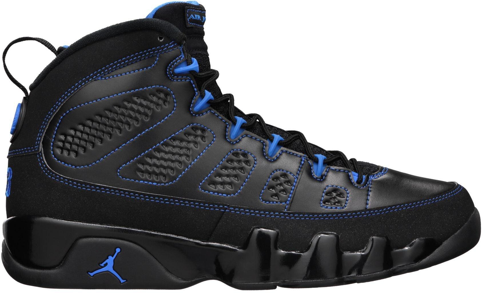 Jordan 9 Retro Photo Blue Black Bottom