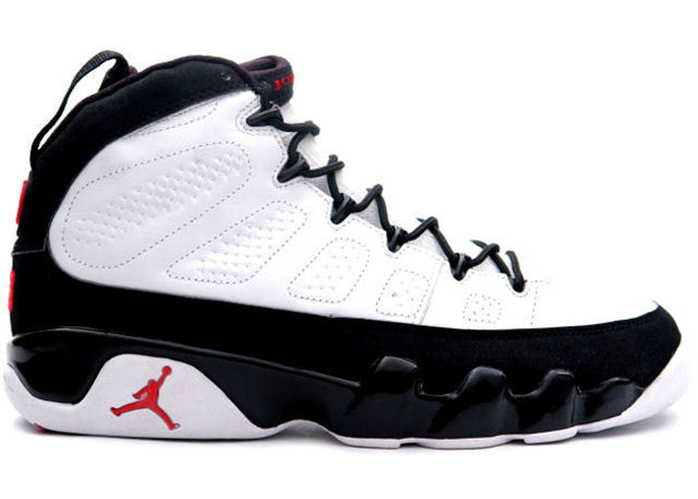 9c270b95fd0 Jordan 9 Retro White Black Red (2002) - 302370-101
