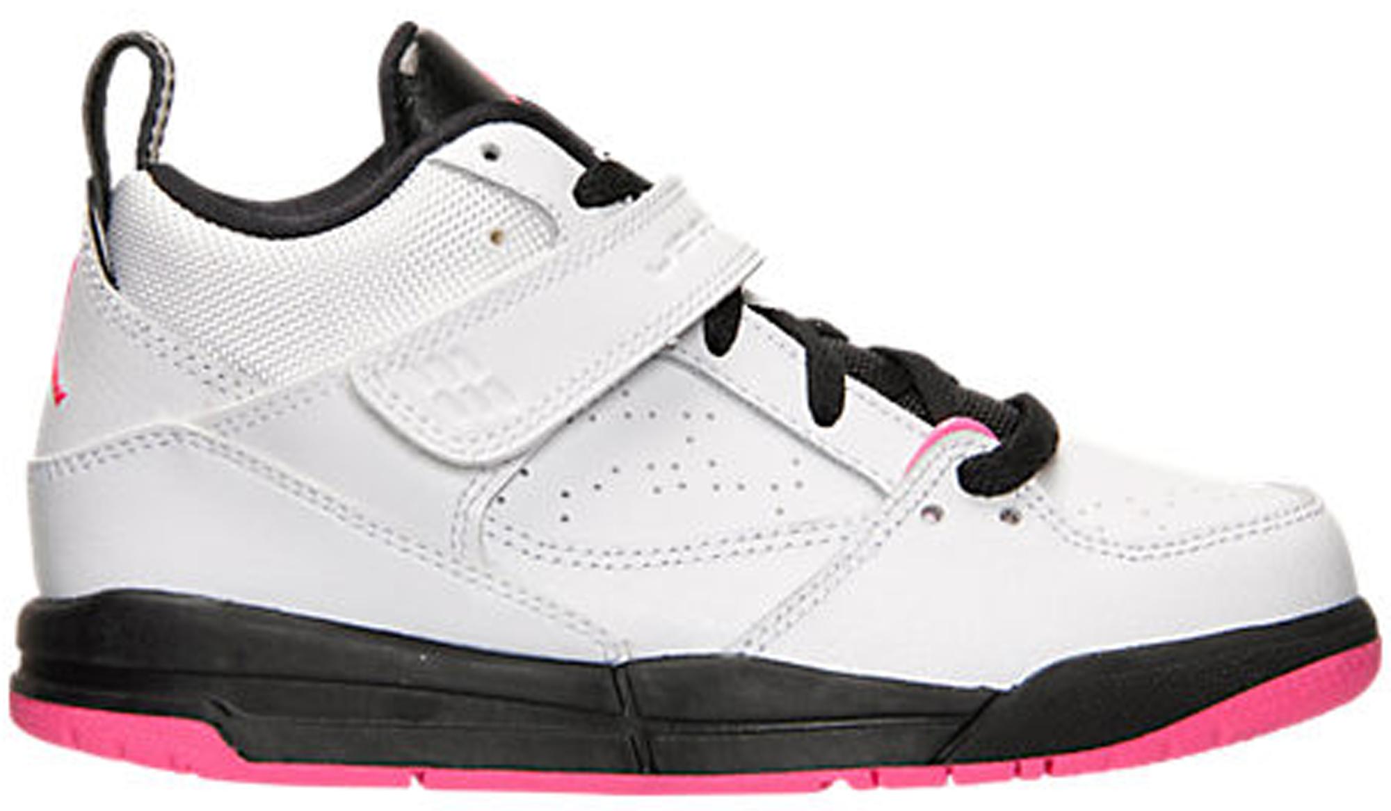Jordan Flight 45 White Hyper Pink Black