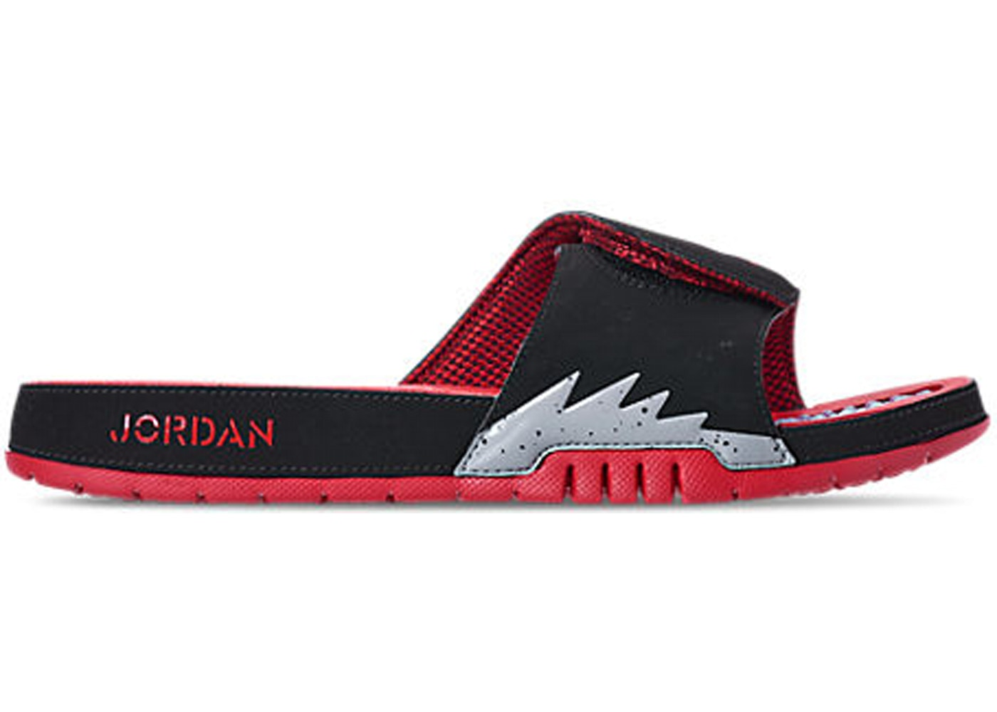 1d7cbc49f482 Jordan Hydro 5 Retro Black Particle Grey University Red - 555501-060