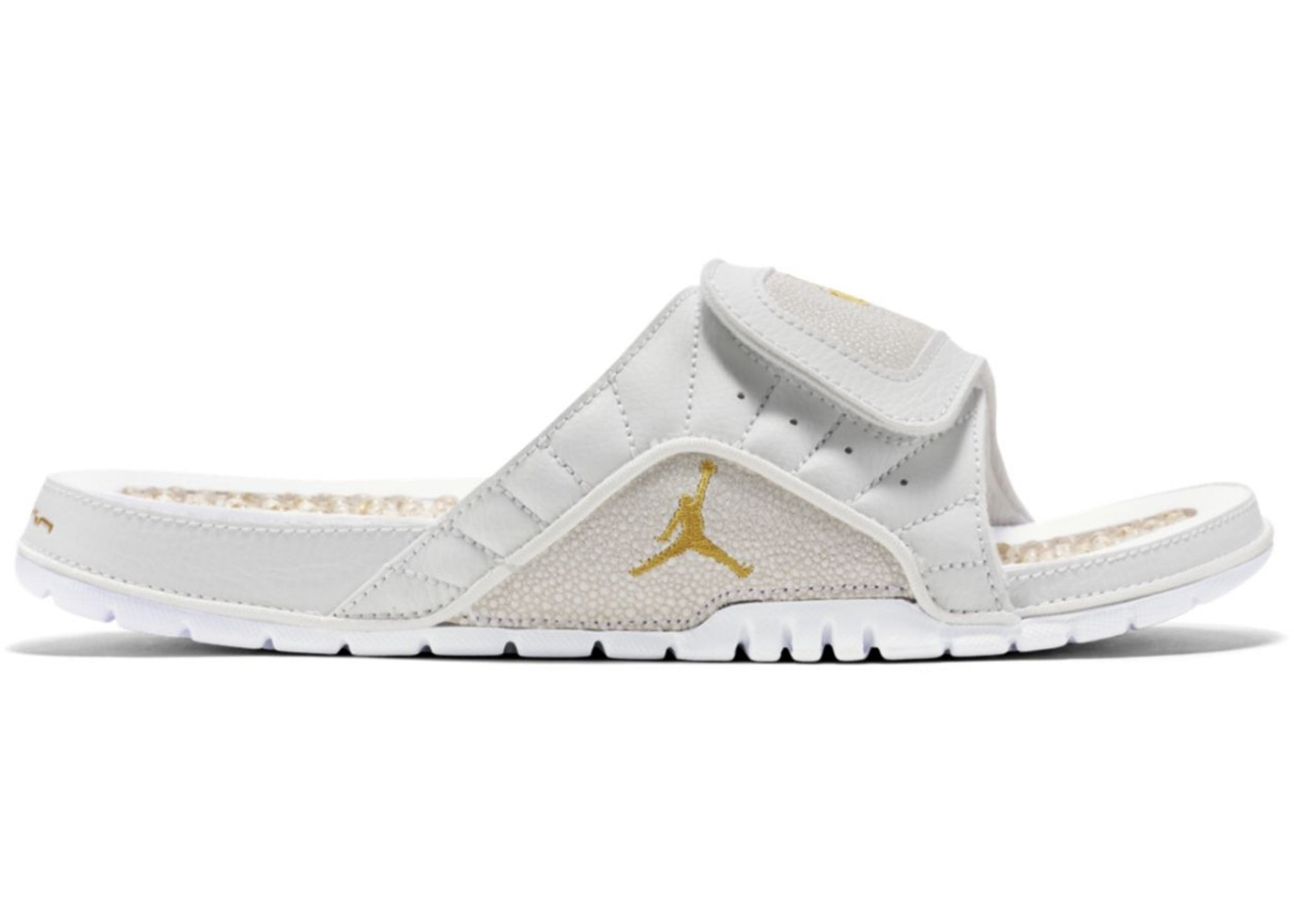 4c55e2aa576f ovo air jordan slides white gold