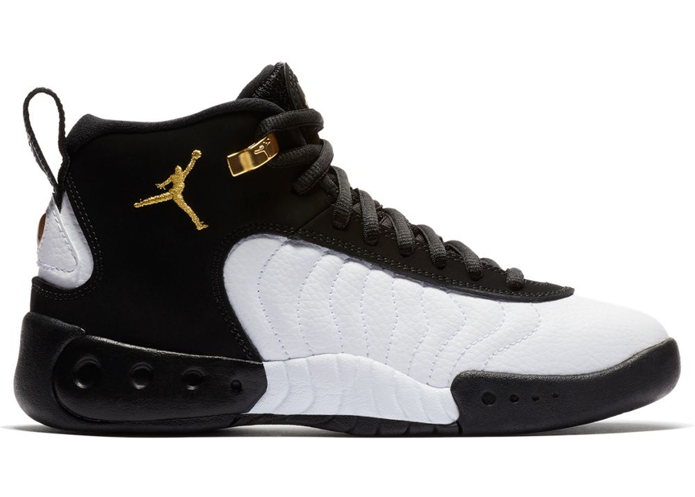 5f6fa51c317f2a Jordan Jumpman Pro Black Gold White (GS) - 907973-032