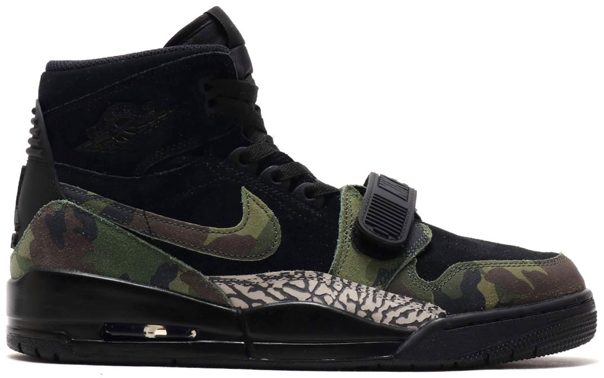 Jordan Legacy 312 Black Camo Green