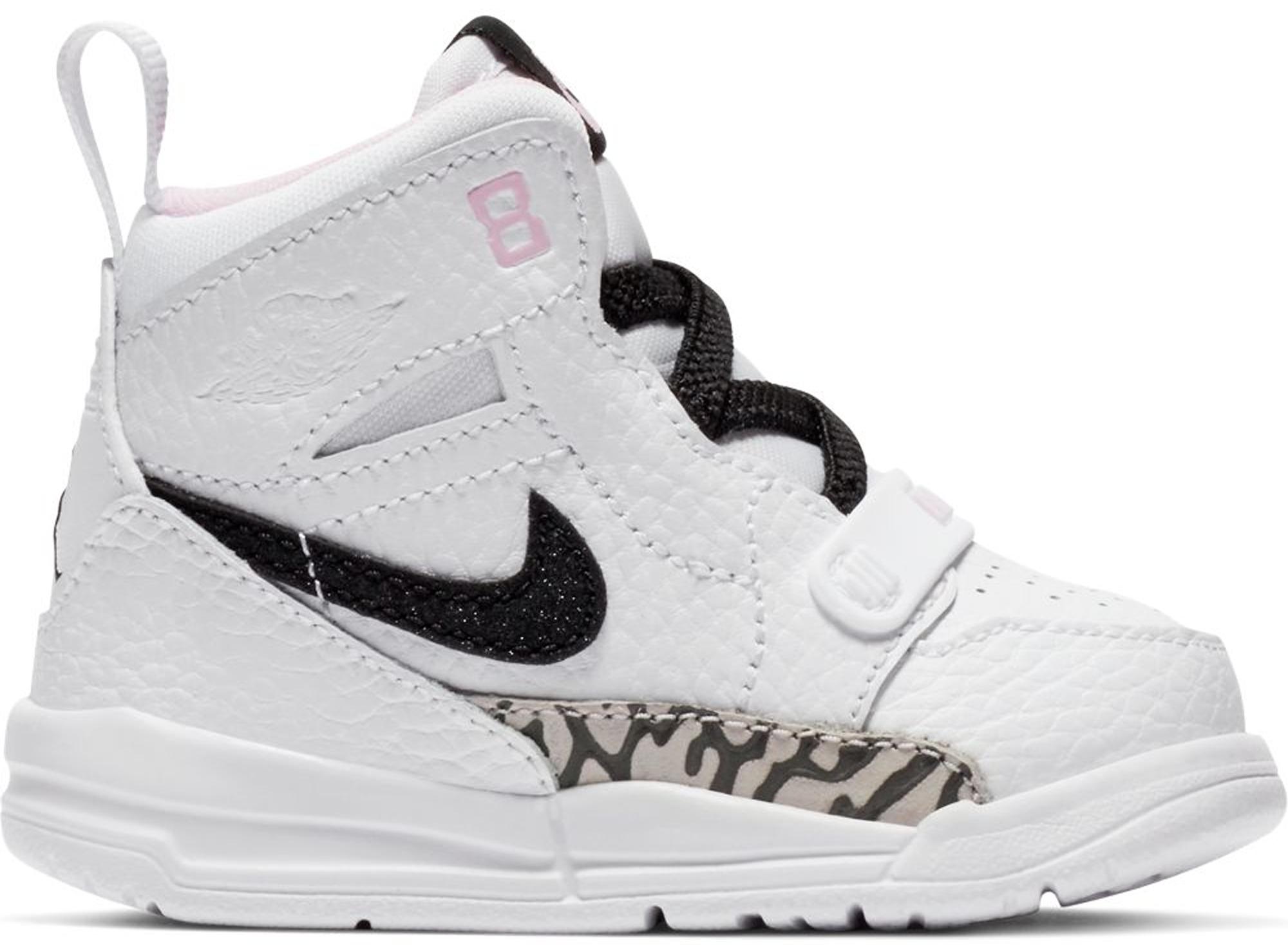 jordan legacy 312 white black pink foam