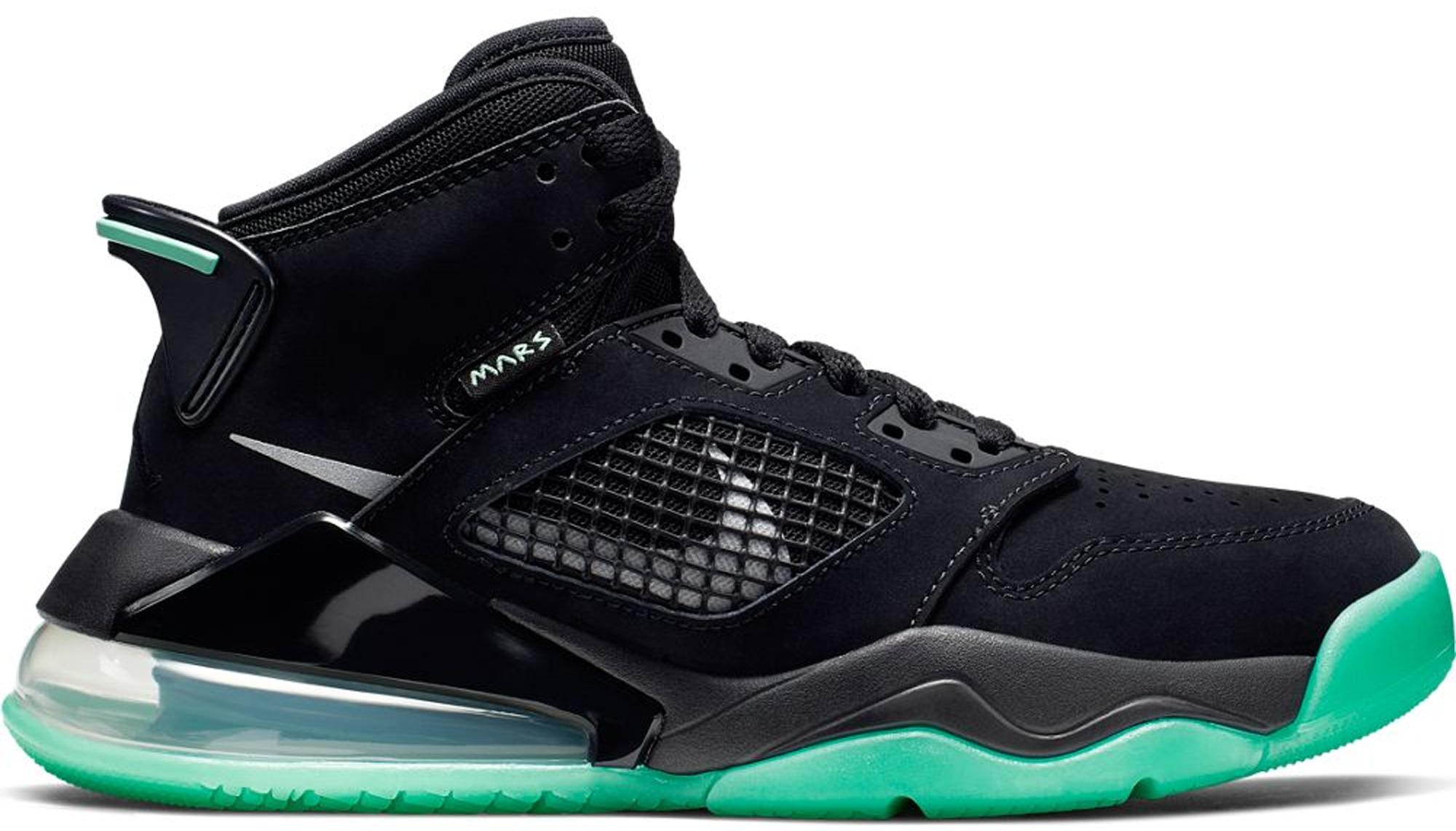 Jordan Mars 270 Black Green Glow (GS