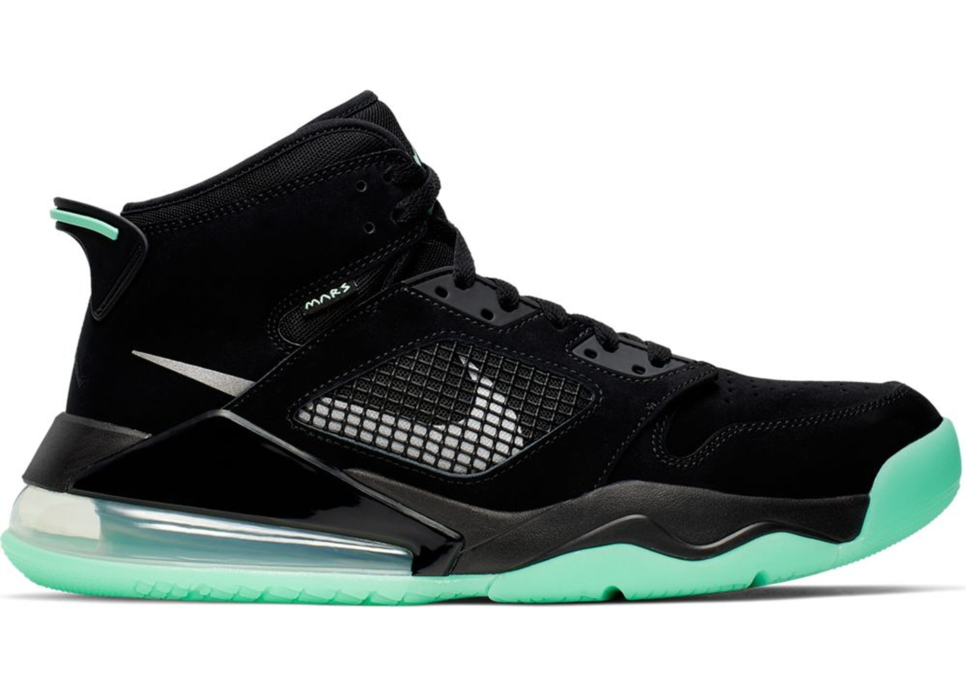 cheap for discount 0c53d c3f7e Jordan Mars 270 Black Green Glow