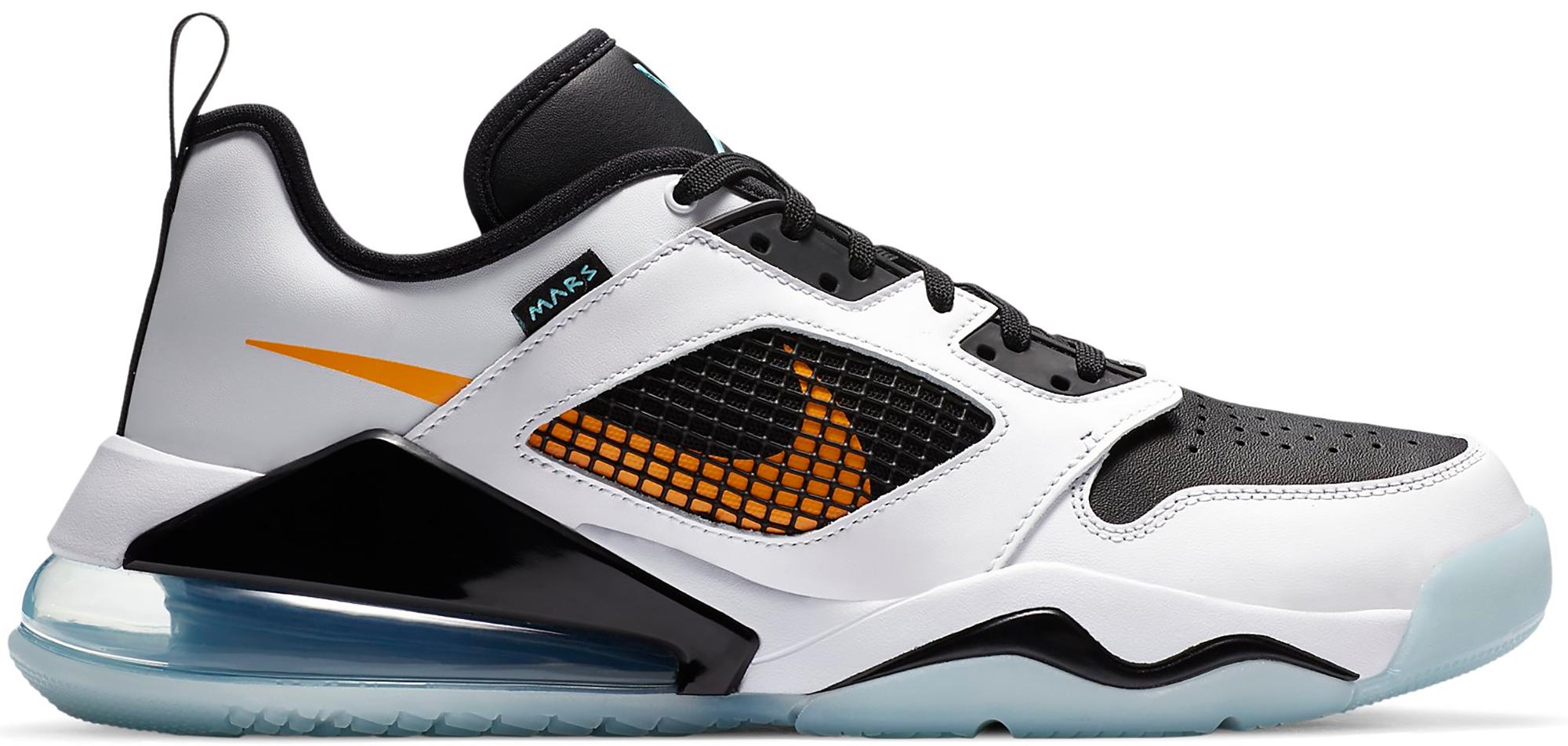 Jordan Mars 270 Low White Black Orange