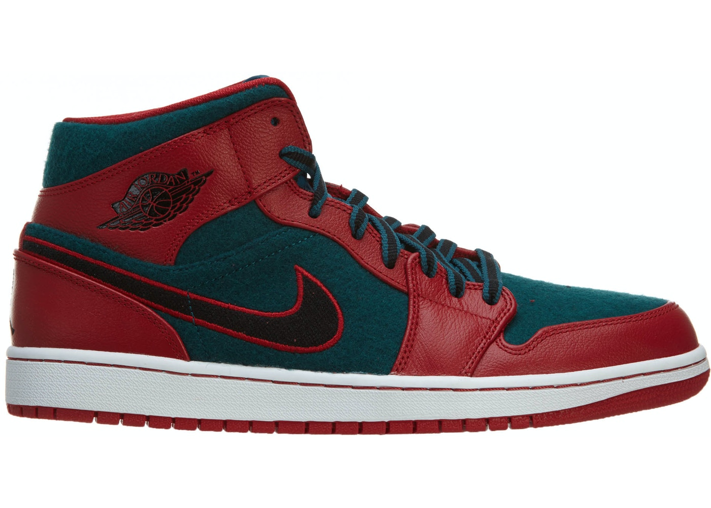 d4b7165a95820a Jordan Air Jordan 1 Mid Gym Red Black-Dark Sea - 633206-608