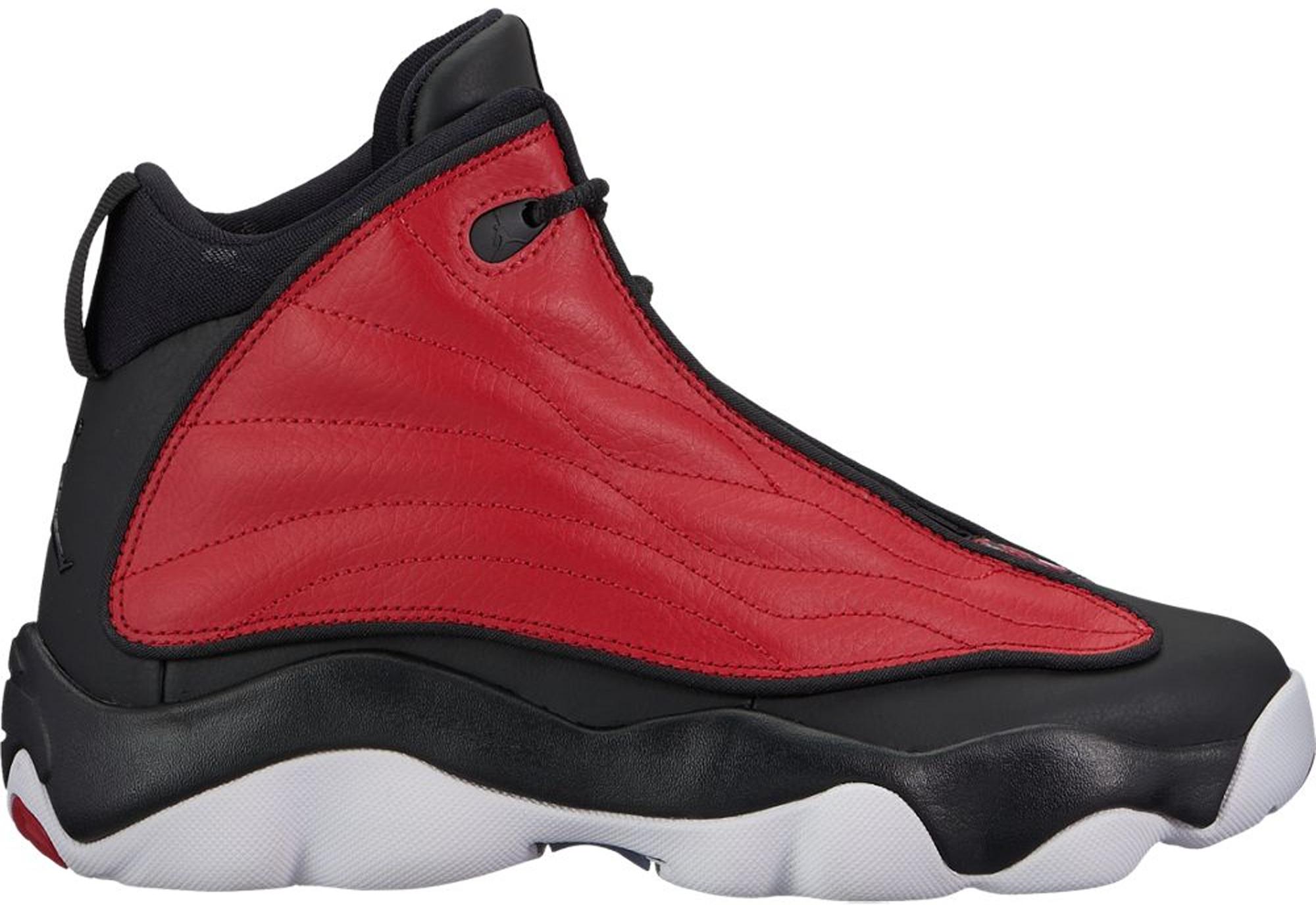 Nike Air Jordan Pro Strong Red Black White GS Grade School Sz 5 407484-601