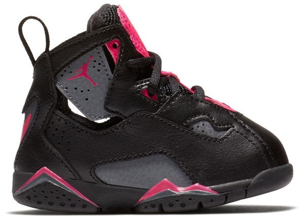 012073aaf25bb1 Jordan True Flight Black Dark Grey Deadly Pink (TD)