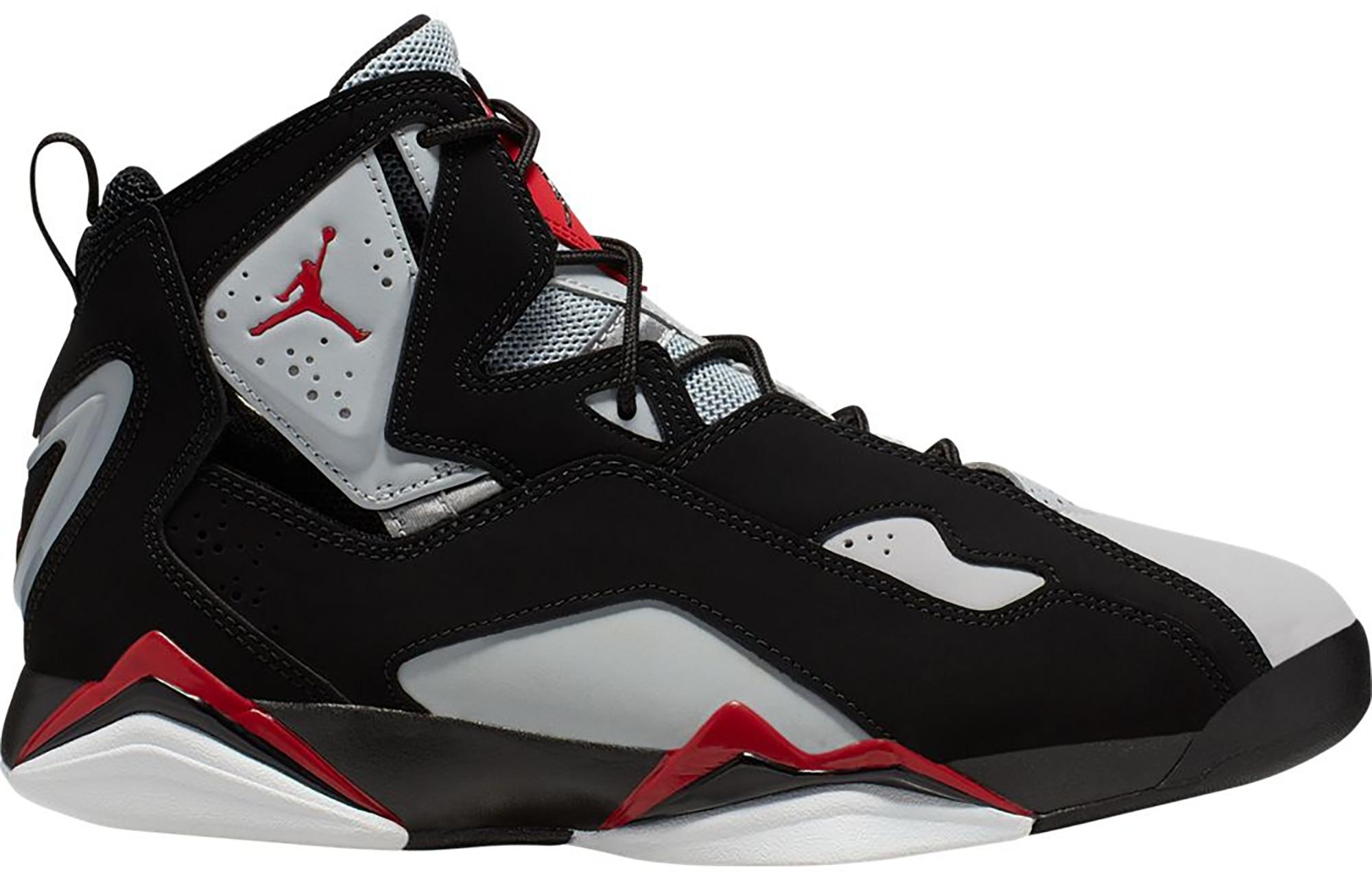 Jordan True Flight Black Varsity Red