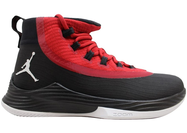 06dd202f771cab Air Jordan Ultra Fly 2 Black White-Gym Red