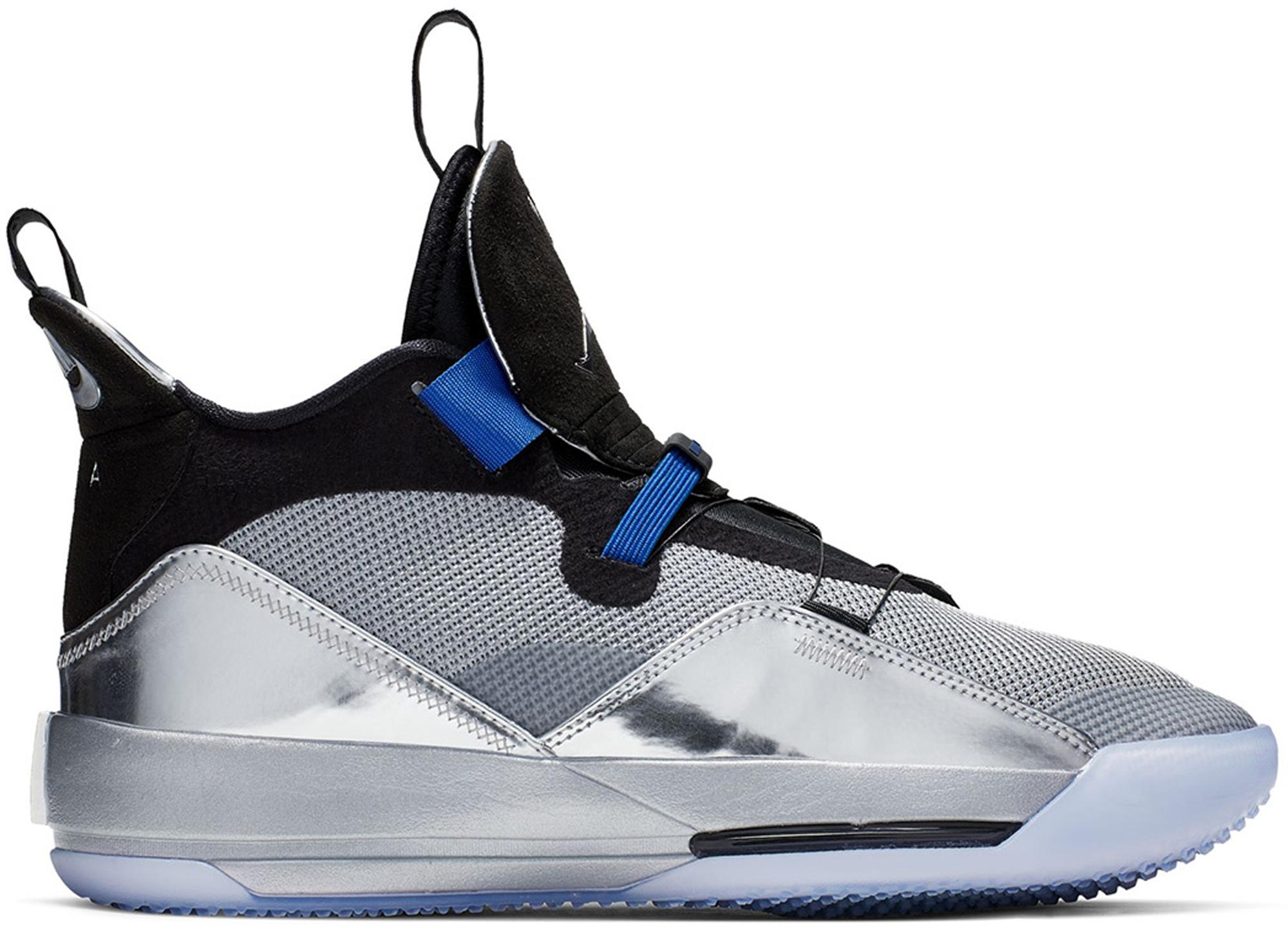 Jordan XXXIII Metallic Silver Black All Star
