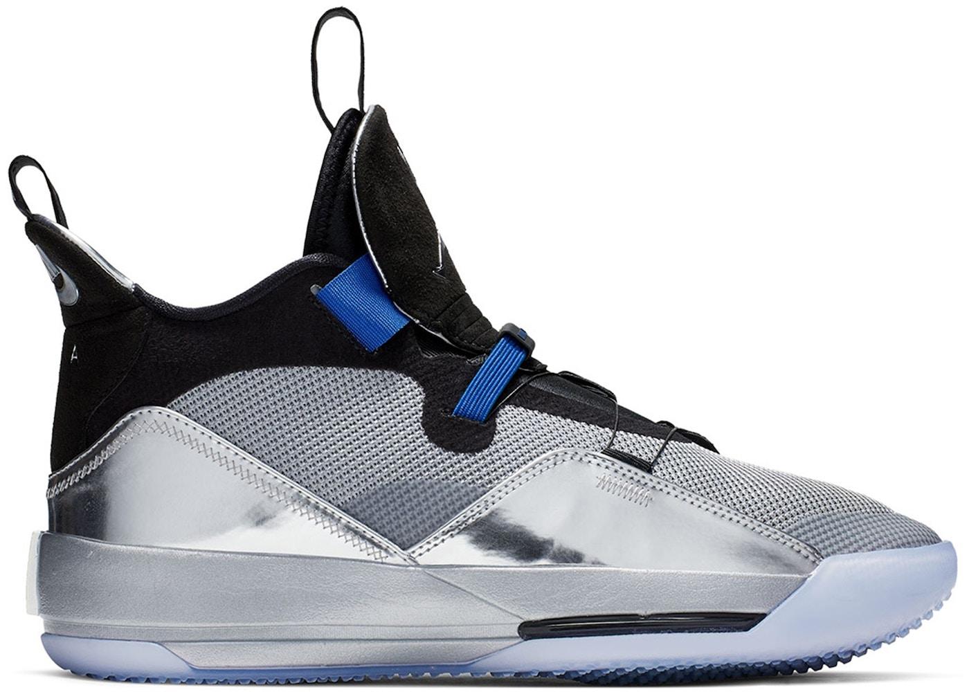 692a07d10a4ffe Jordan XXXIII Metallic Silver Black All Star - AQ8830-005