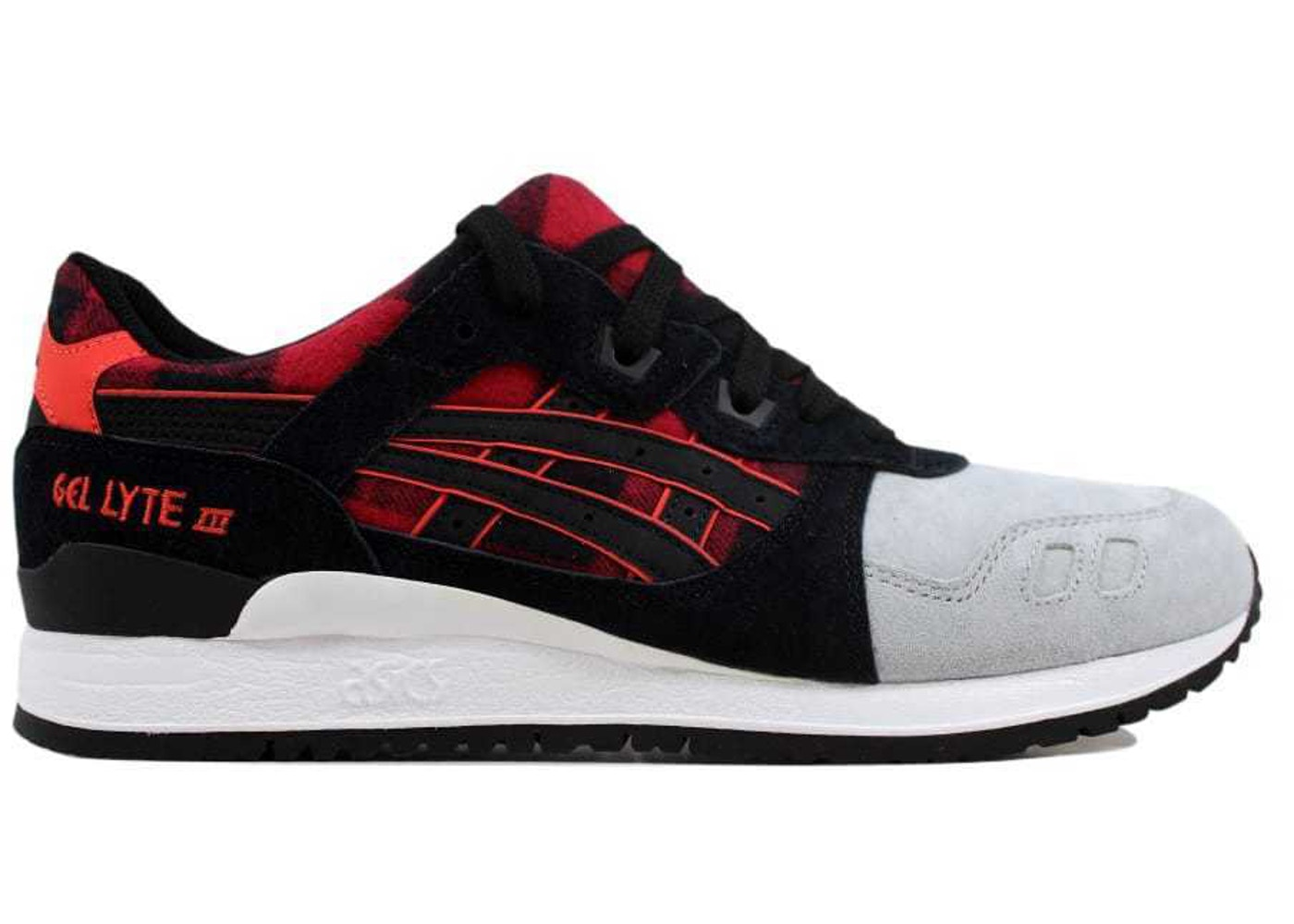 super cute 3a873 2d279 Asics Gel Lyte III 3 Red Black - H6Y0L-2490
