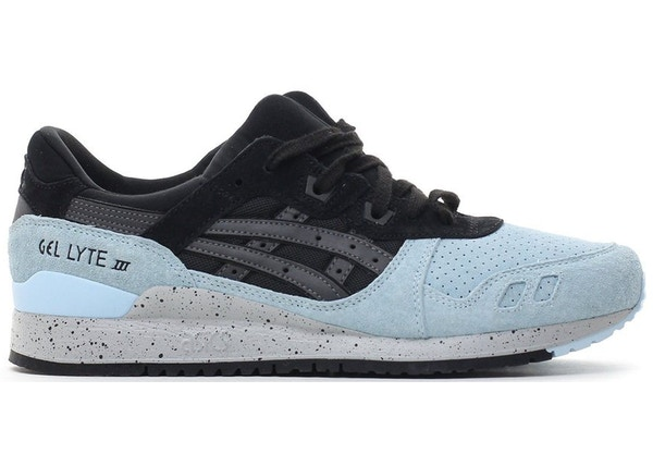 sports shoes 12484 c1aa2 Asics Gel-Lyte III Black Light Blue Speckle Grey - H7M3L-9090