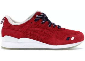 best sneakers 76304 70b6e ASICS Gel-Lyte III Kith x Moncler Red