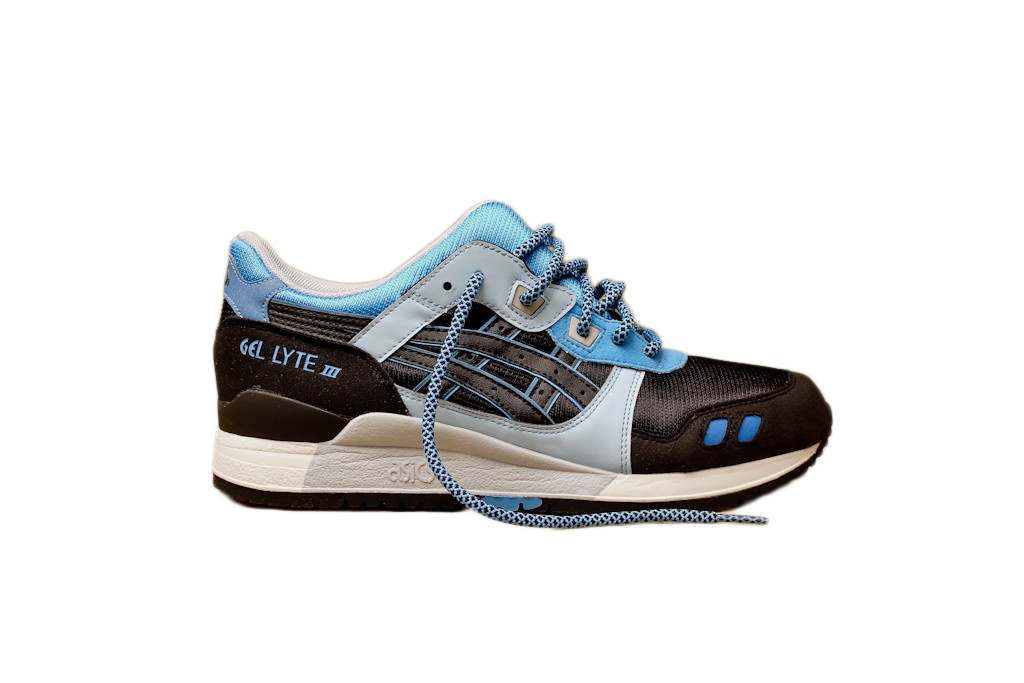 ASICS Gel Lyte III Kithstrike Black Carolina Blue