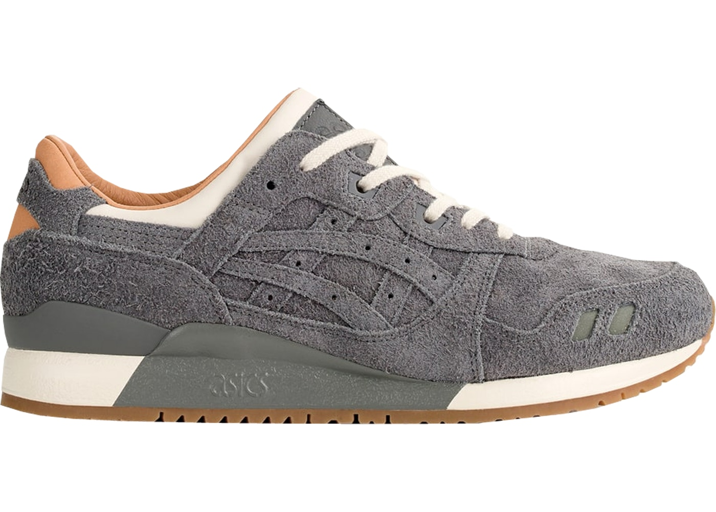 ASICS Gel Lyte III Packer Shoes x J. Crew Charcoal Suede