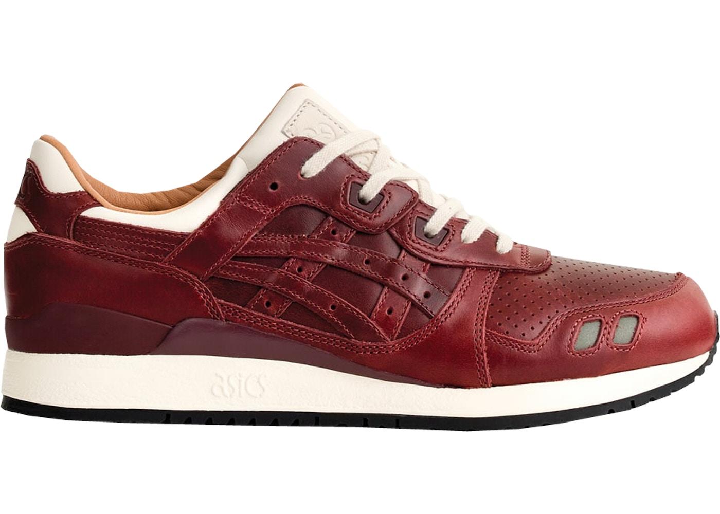 online retailer cc815 92ddf ASICS Gel-Lyte III Packer Shoes x J. Crew Oxblood Leather