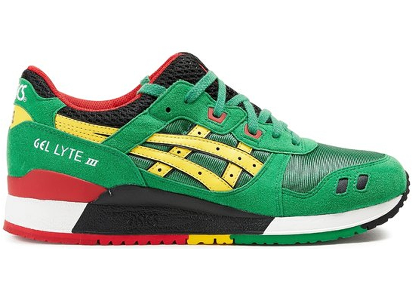 new style b1069 908e8 Asics Gel-Lyte III Rasta Pack Green