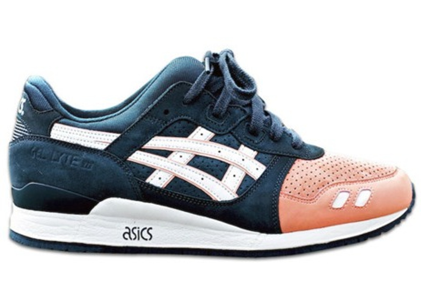 asics gel lyte iii ronnie fieg salmon toes. Black Bedroom Furniture Sets. Home Design Ideas