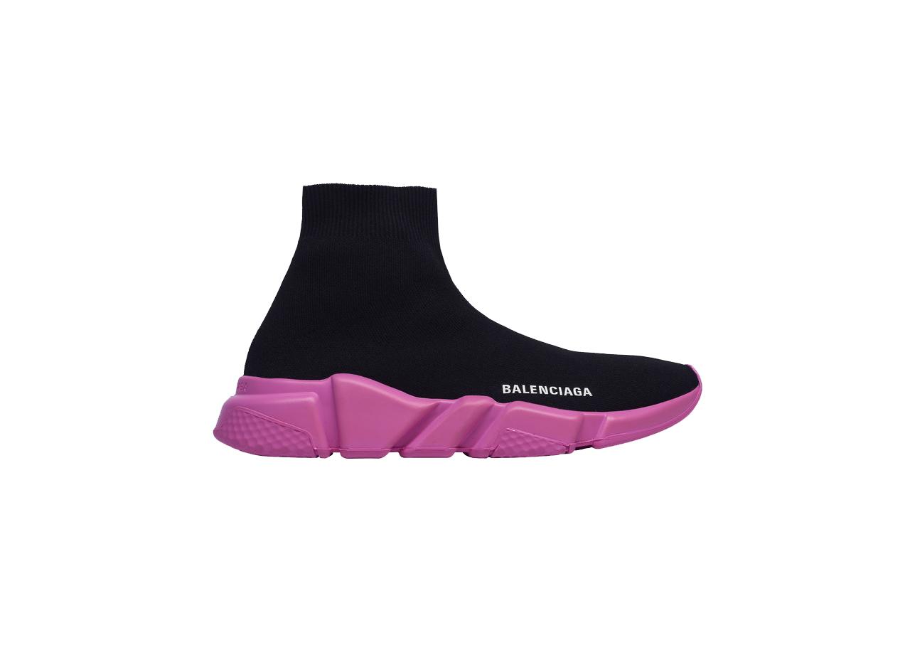 Balenciaga Speed Sneakers Black Pink